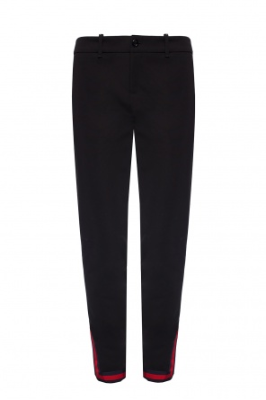 'web' stripe trousers od Gucci